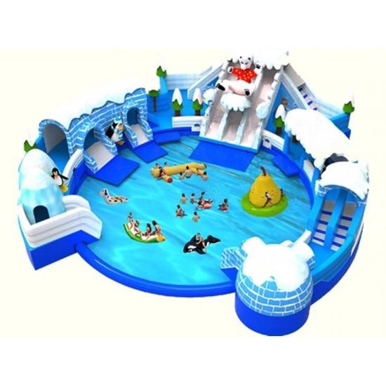 冰雪世界充气水滑梯